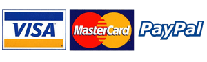via master card and paypal logos